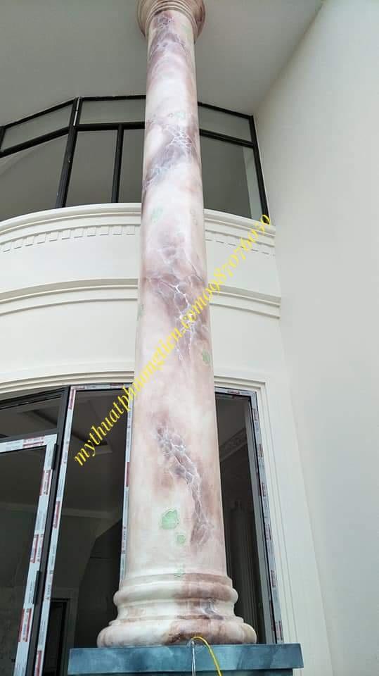 cột giả đá chống lầu