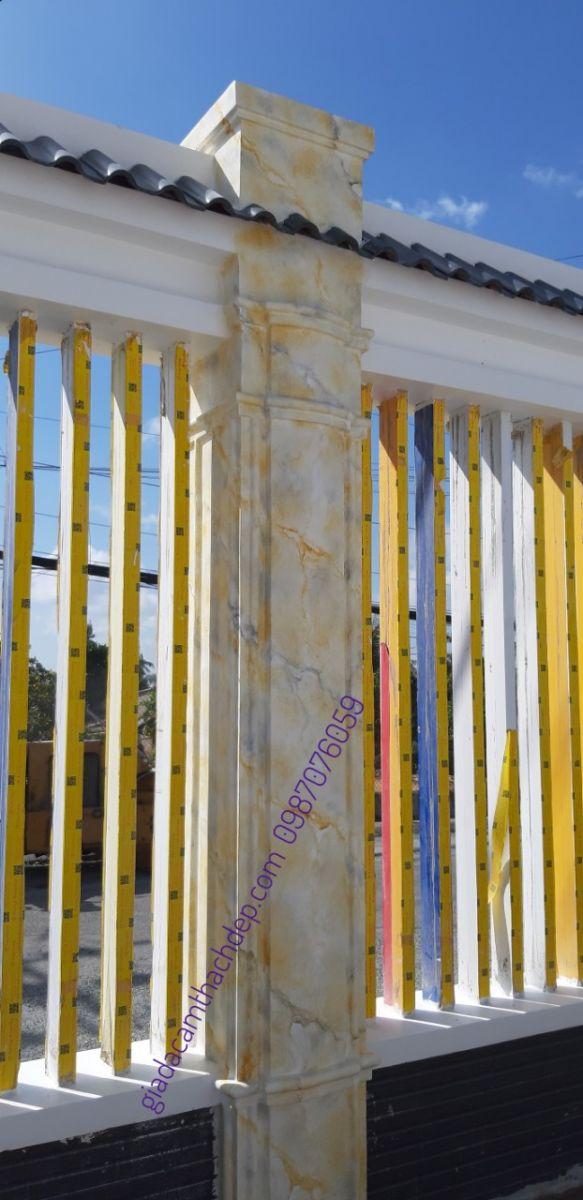 hàng rào sơn giả đá cẩm thạch