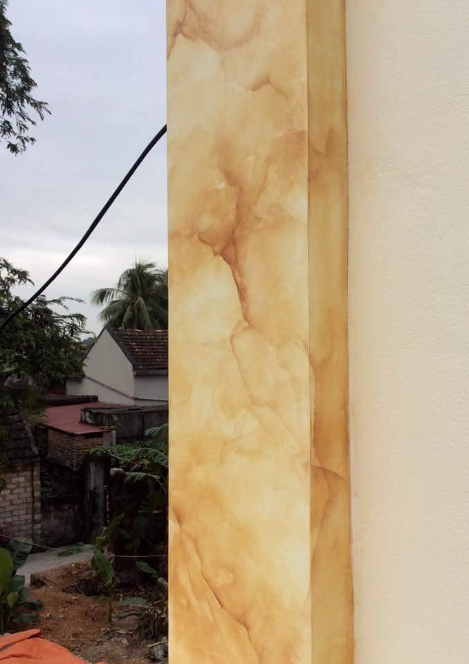 sơn giả đá đơn sắc