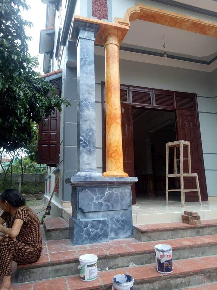 sơn giả đá long thành