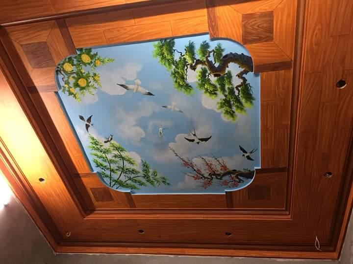trần mây giả gỗ