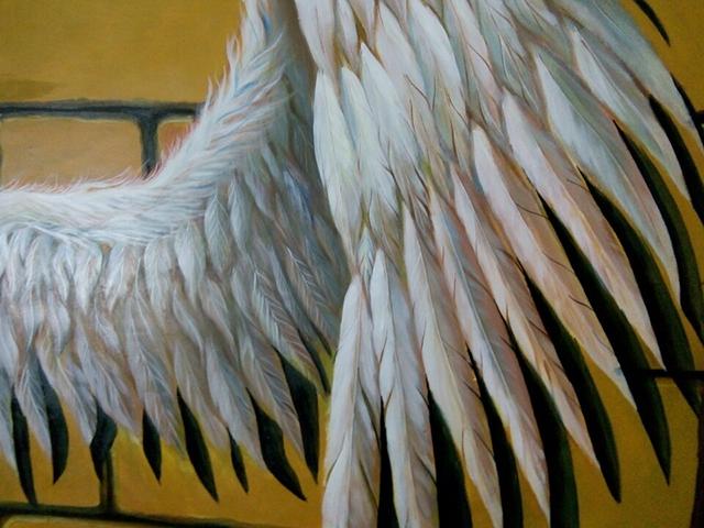 tranh quán cafe cánh thiên thần