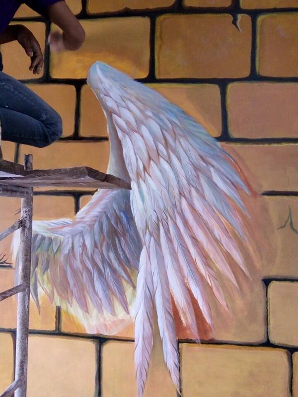 trang trí cánh thiên thần
