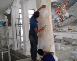 sơn giả đá cẩm thạch tại bình dương