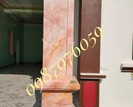 cột vuông sơn giả đá-sơn giả đá cẩm thạch